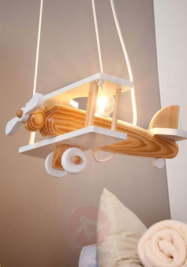 Great: the little airplane turned a luminaire