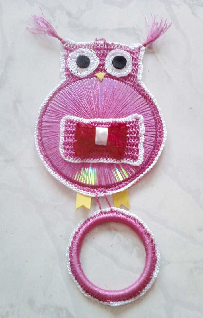 Owl Crochet Dish Cloth Holder