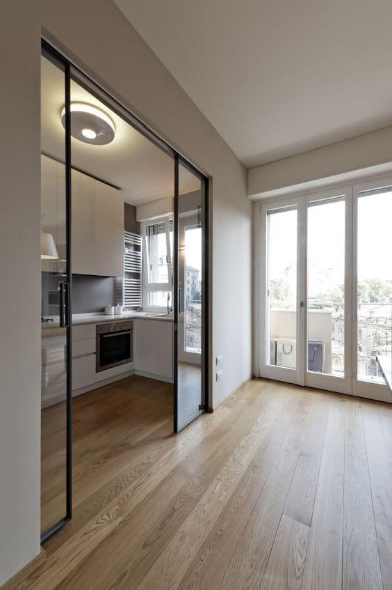Sliding door: advantages of using and projects with photos 15