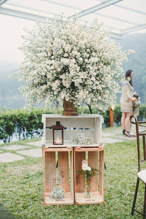 Wedding arrangements: 70 ideas for table, flowers and decoration 51