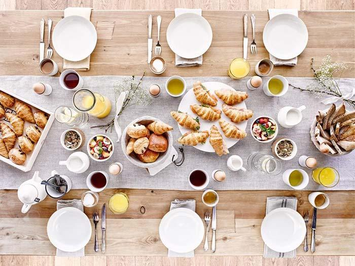 Brunch well served for table set