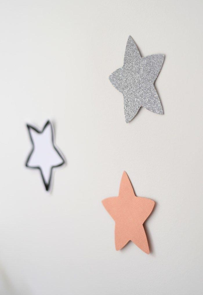 Stars shining on the wall