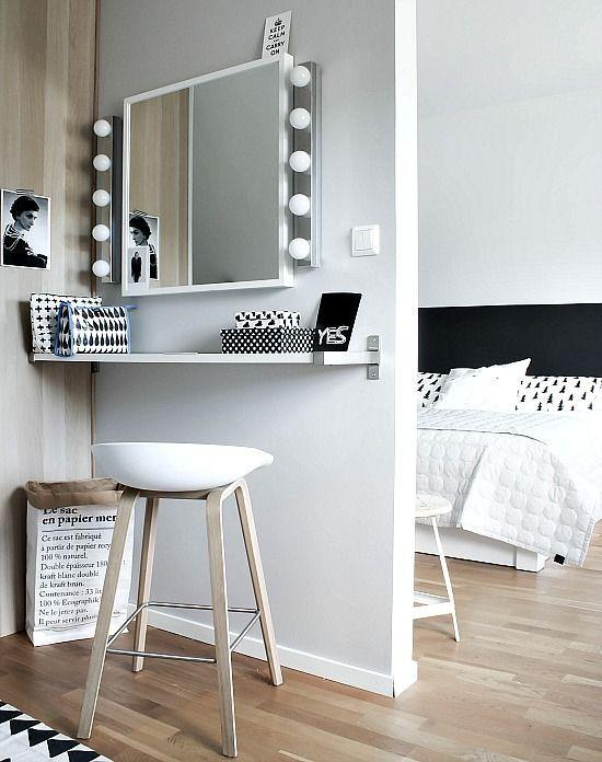 Makeup table: 60 ideas to decorate and organize 16