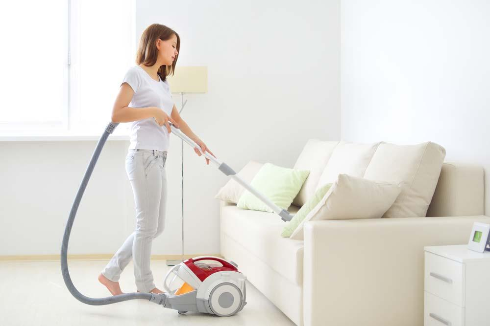Vacuum cleaner on the sofa