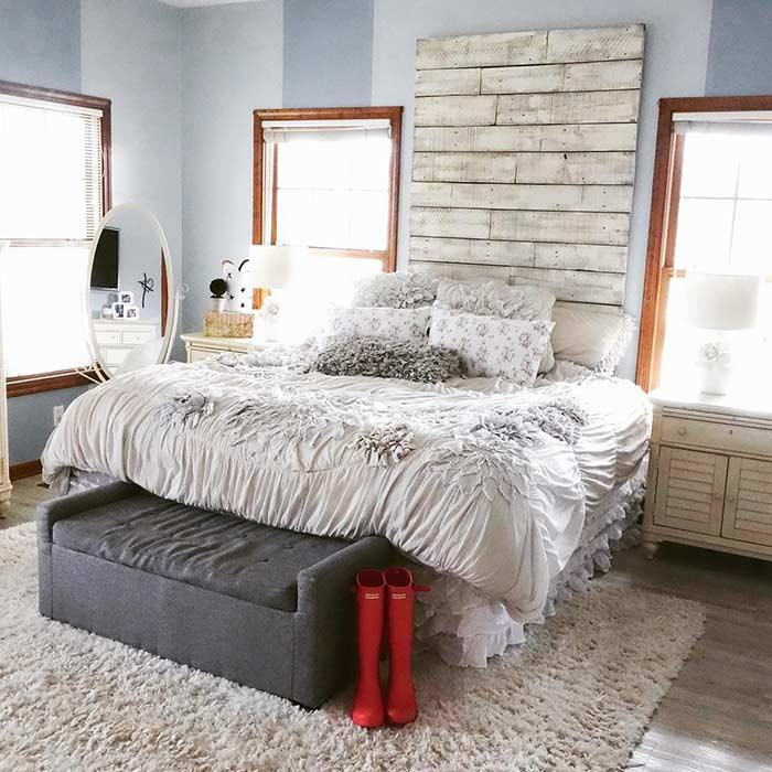 Pallet headboard: 60 creative ideas to use the item in the decoration