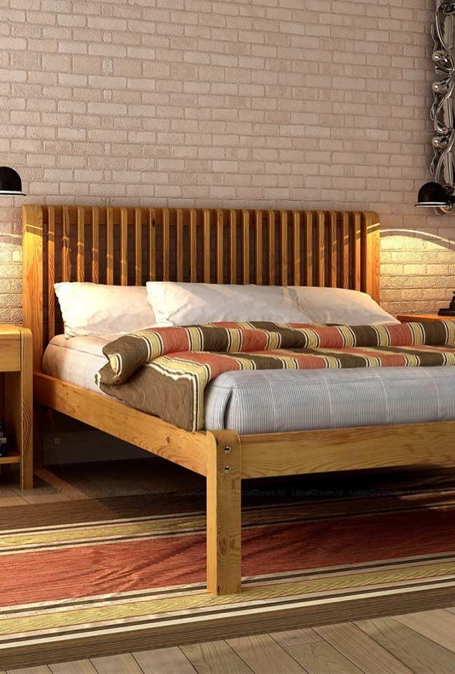 Headboard built into the bed