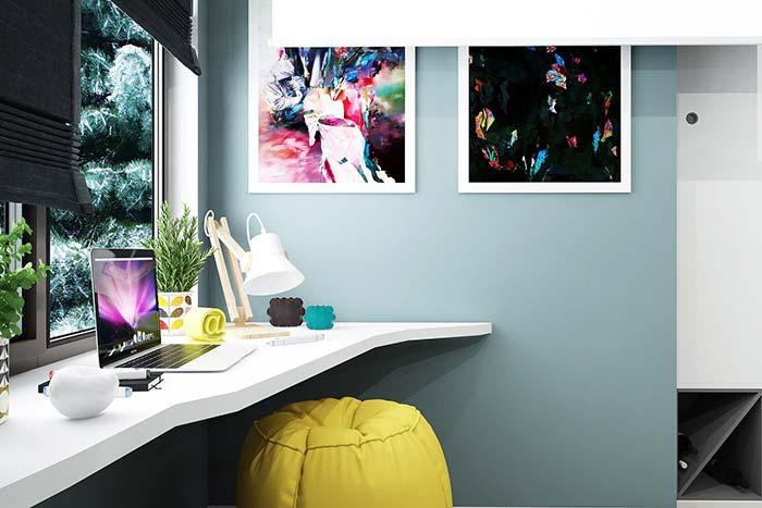 Geek decoration with vibrant colors