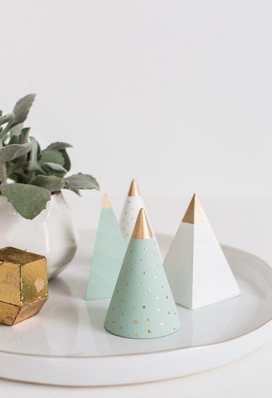 Cone and pyramids: a minimalist choice.