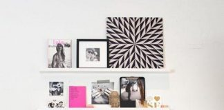 Decoration with pictures and photographs