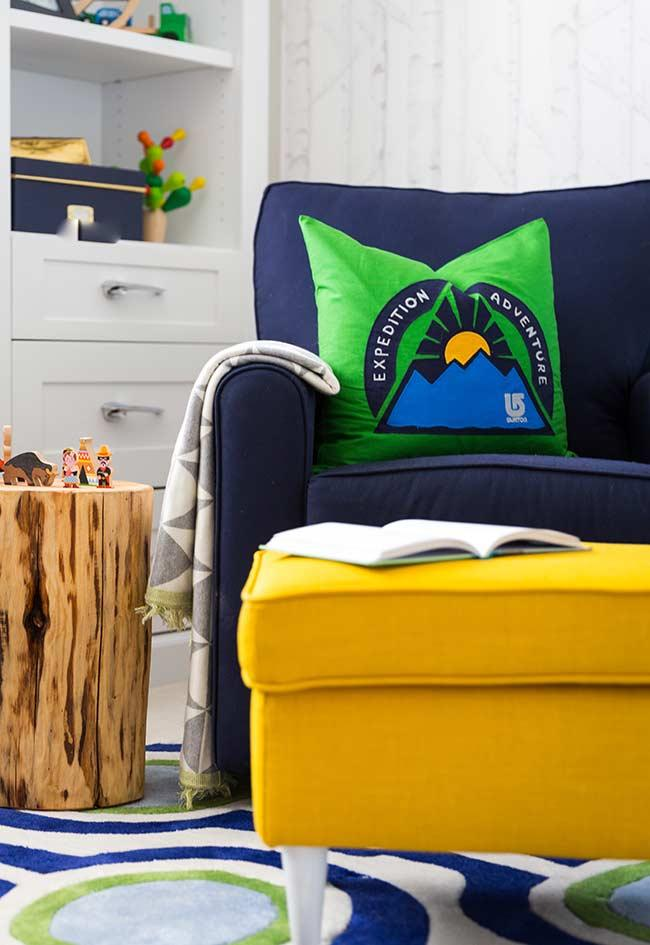 Super comfortable and colorful for a baby's room