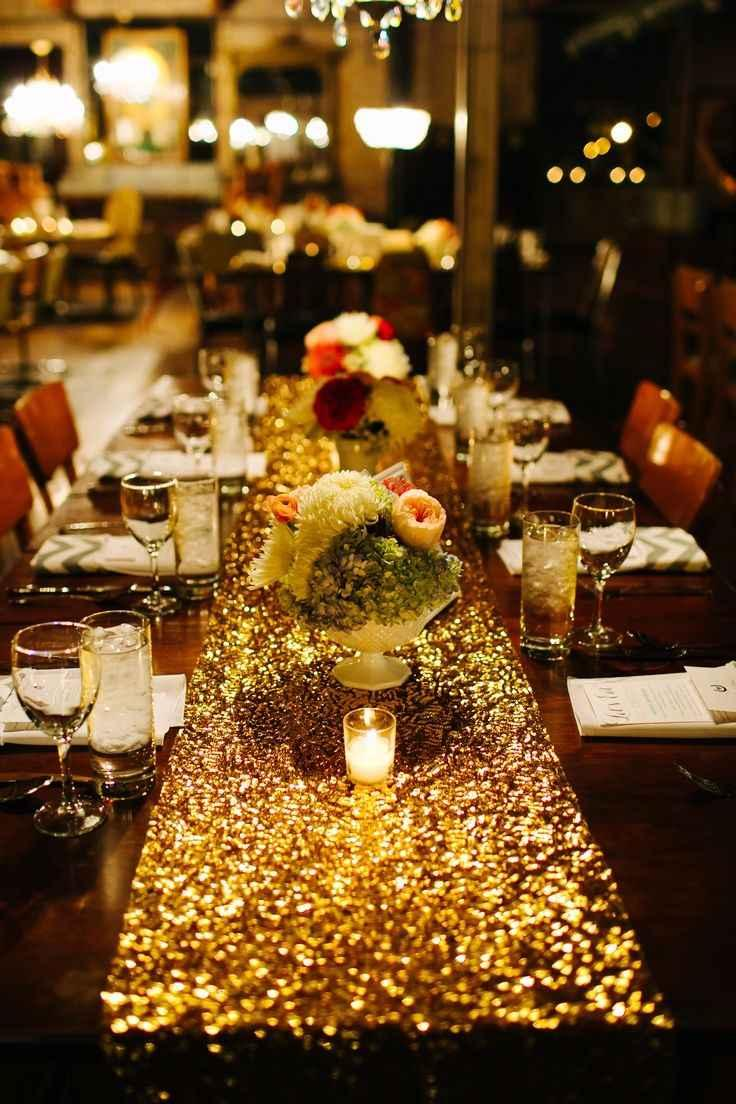 Golden wedding decoration: 60 ideas with photos to inspire 1