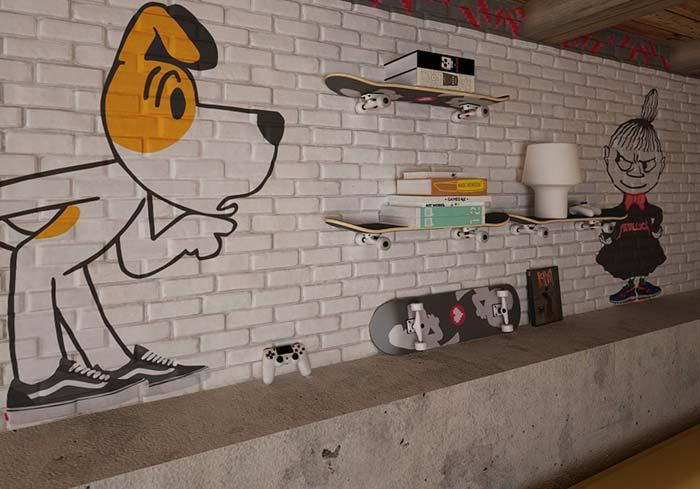 Creative idea: shelf with skateboard format