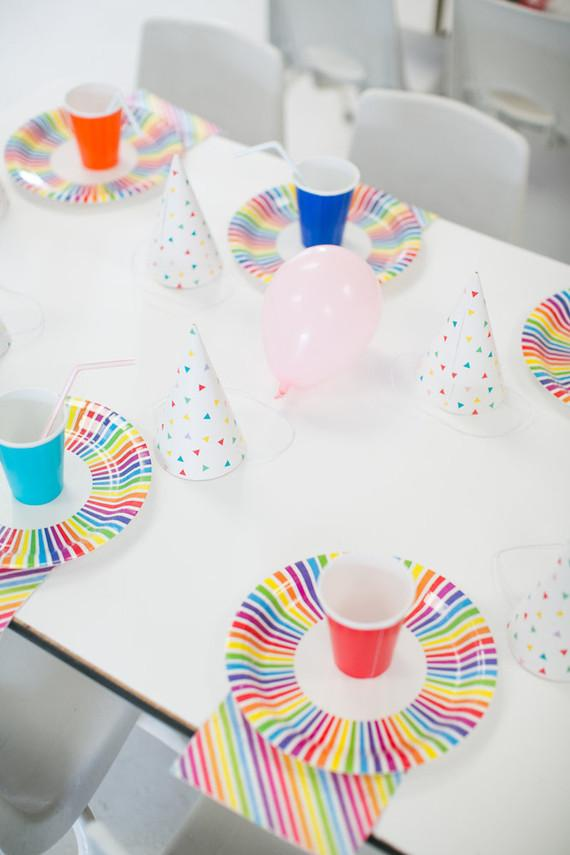 Colorful little toys for a simple children's party