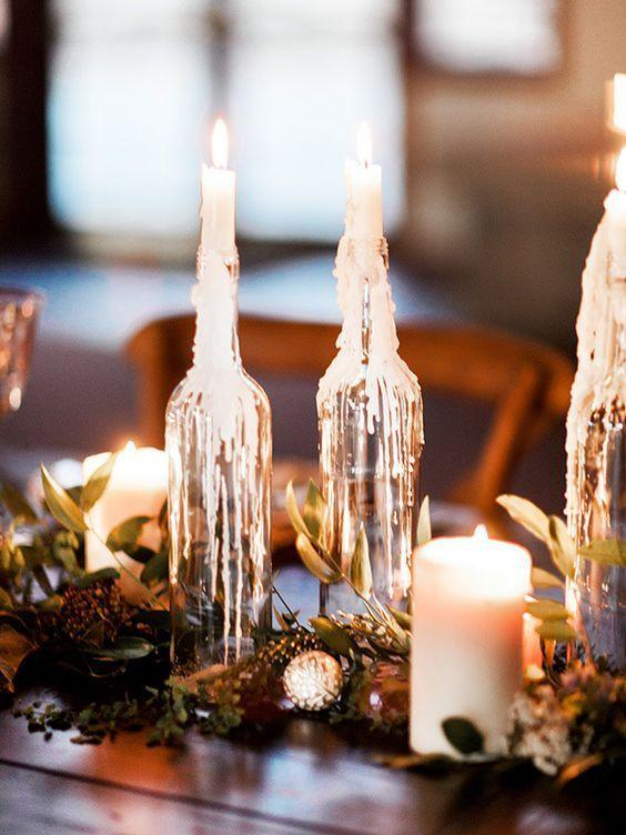 Table Top with Bottle: See Beautiful Ideas to Decorate the Table 23