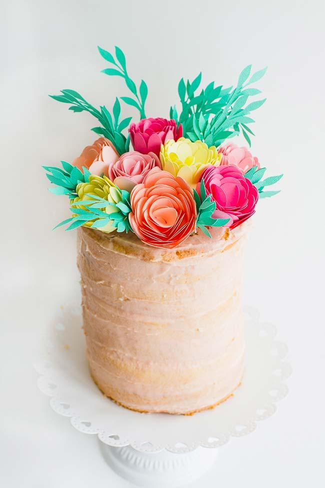 Colorful paper flowers in do-it-yourself wedding decoration