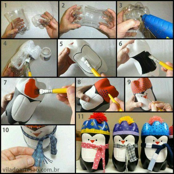 Christmas Ornaments with PET Bottle: 50 Ideas to Use in Decoration 1