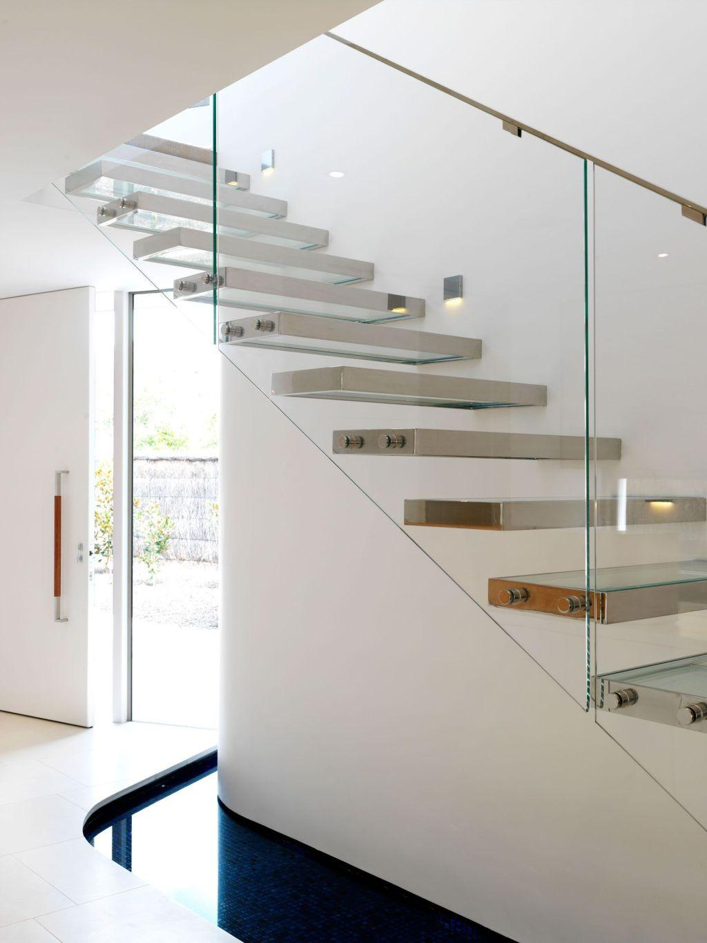 Stainless steel handrail: see tips and 60 models with photos 48