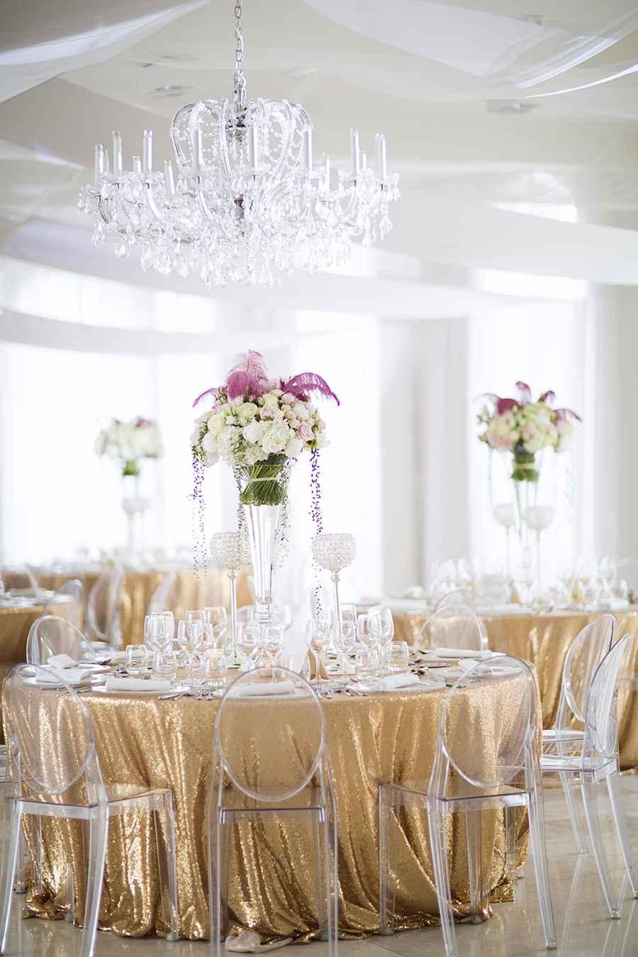 Golden wedding decoration: 60 ideas with photos to inspire 2
