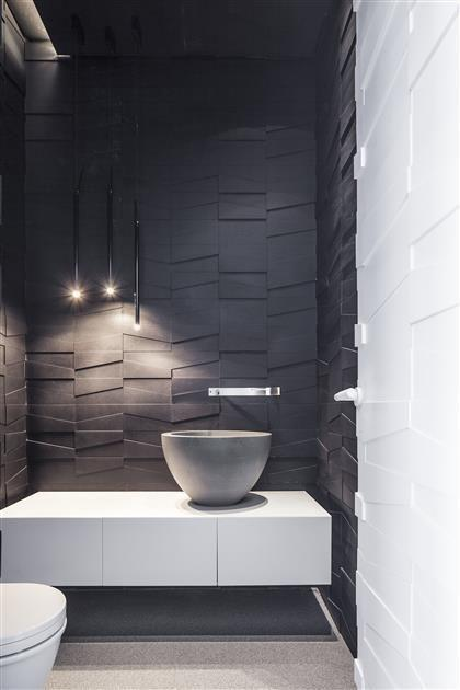 Bathroom coatings: types, models and photos 11