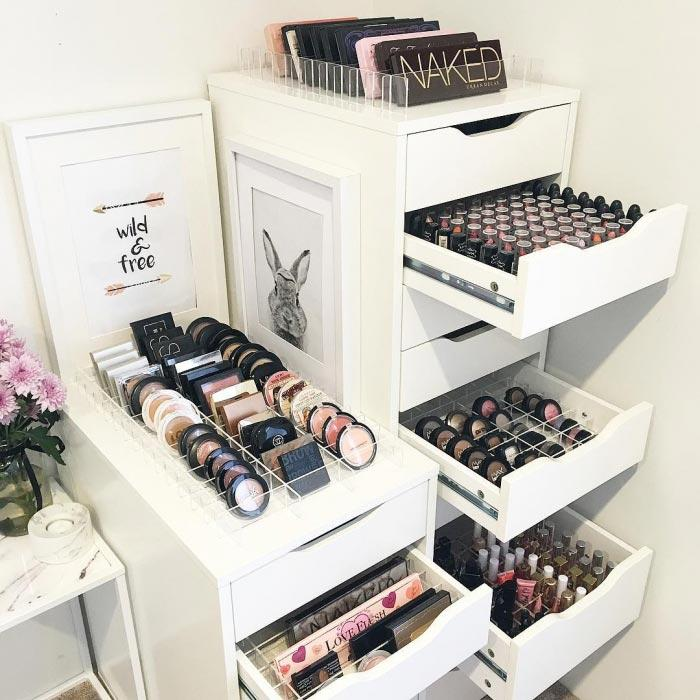 Makeup table: 60 ideas to decorate and organize 56