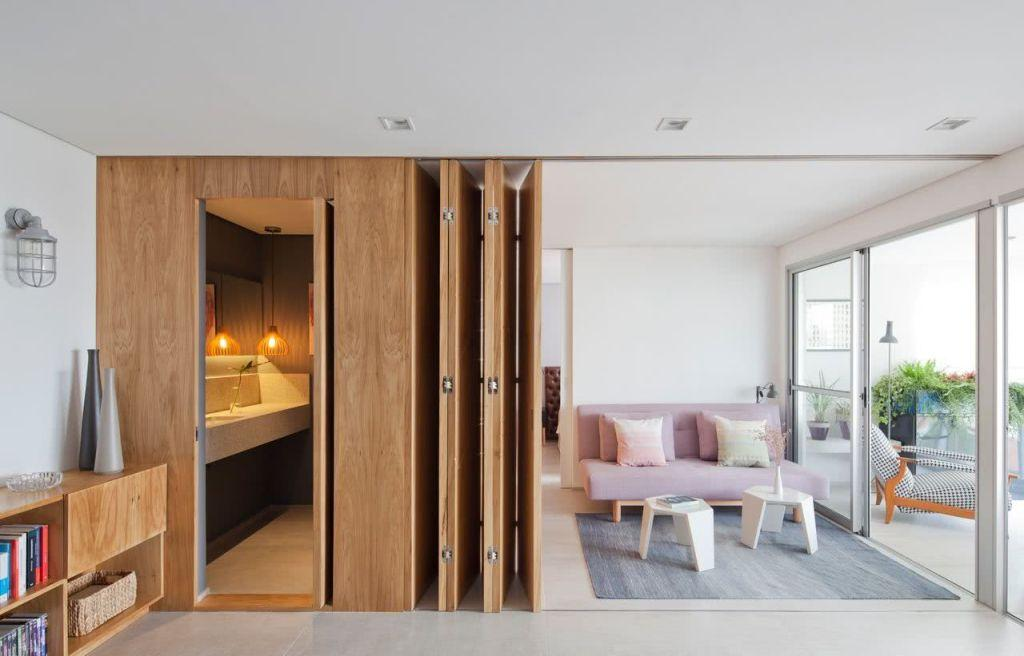 Sliding door: advantages of using and projects with photos 68