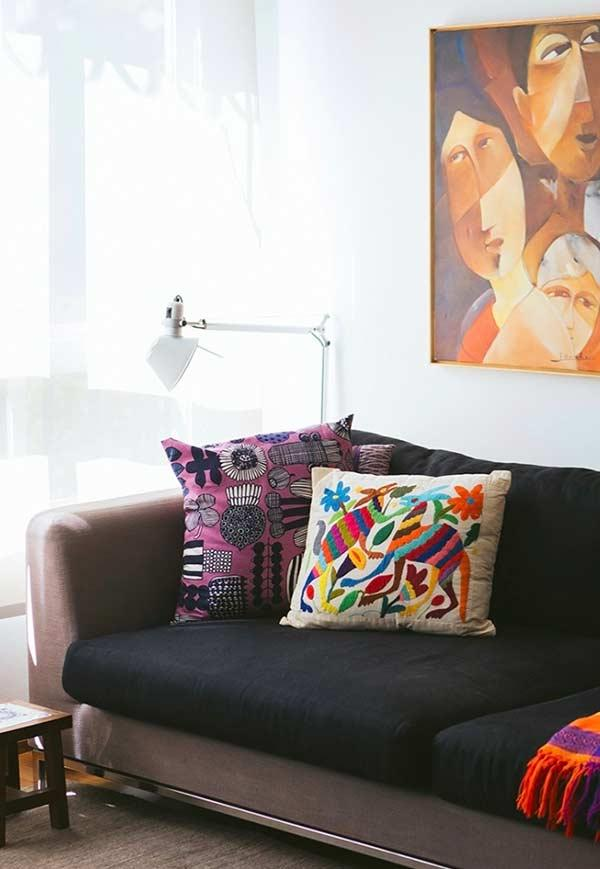 Colored Cushions for the Couch