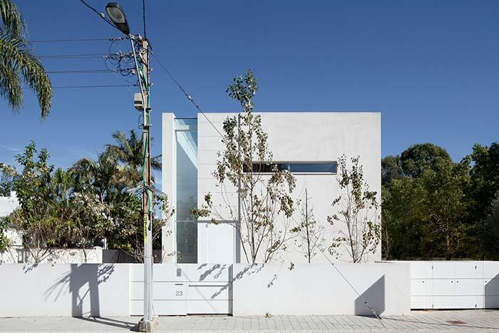 All white on this facade