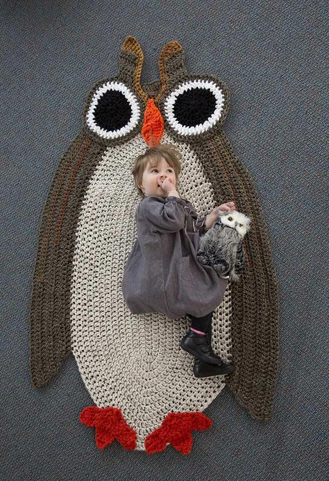 Super Owl Rug for Crochet Lovers