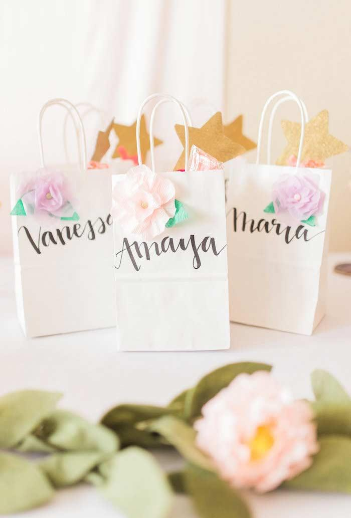 Personalized souvenirs in little bag