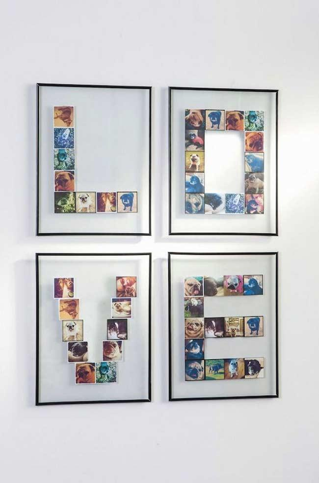 Organize your photos by forming letters and words