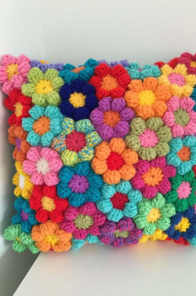 Spring Crochet Cushion Cover