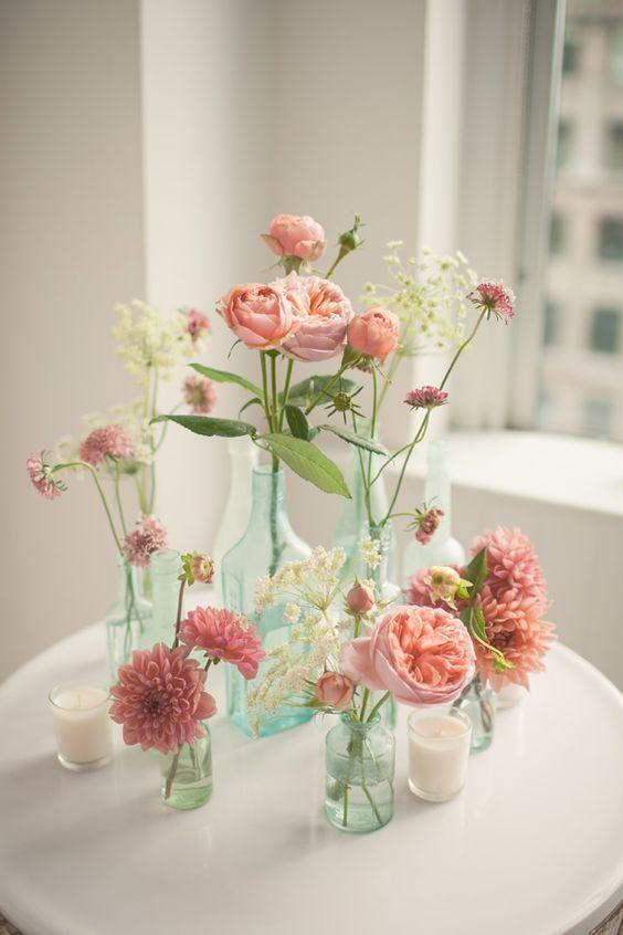 Table Top with Bottle: see beautiful ideas to decorate the table 39