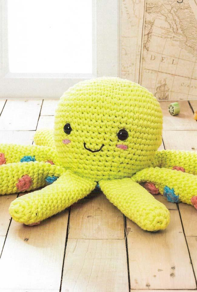 Smiley Crochet Octopus