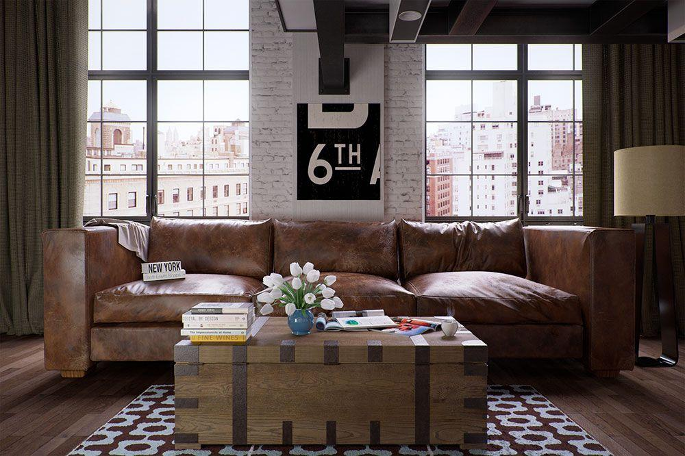 Leather sofa: 70 amazing models to decorate environments 58