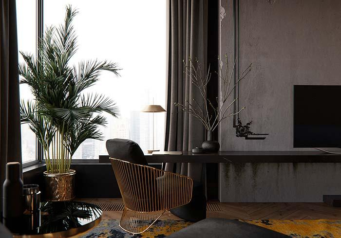 But if the intention is to create a sober and formal environment, invest in a metallic vase, like that of the image