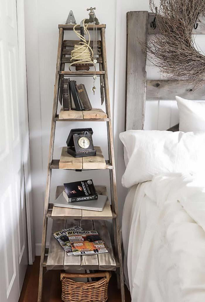 Ancient staircase as a bookcase