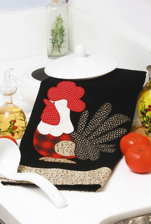Chicken dish cloth with patchwork