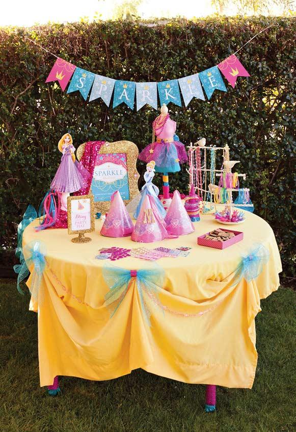 Colorful Princess Party Table