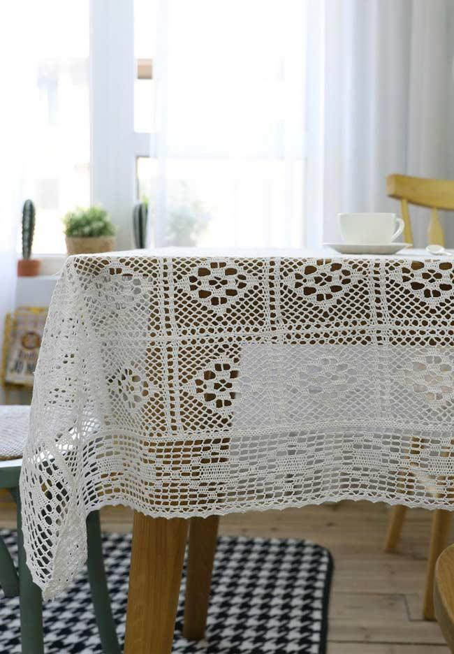 Crochet towel: ideas to add table decoration 6