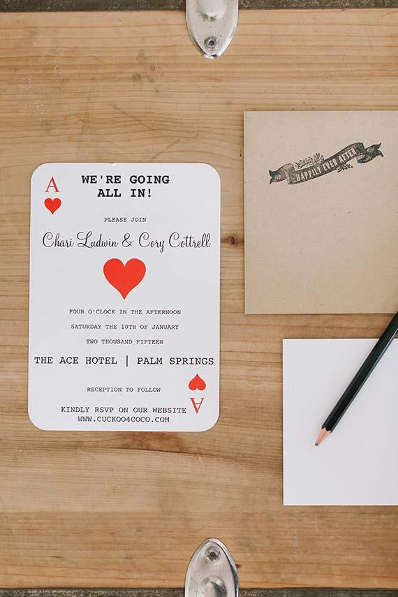 Simple Wedding Invitation for Bride and Groom