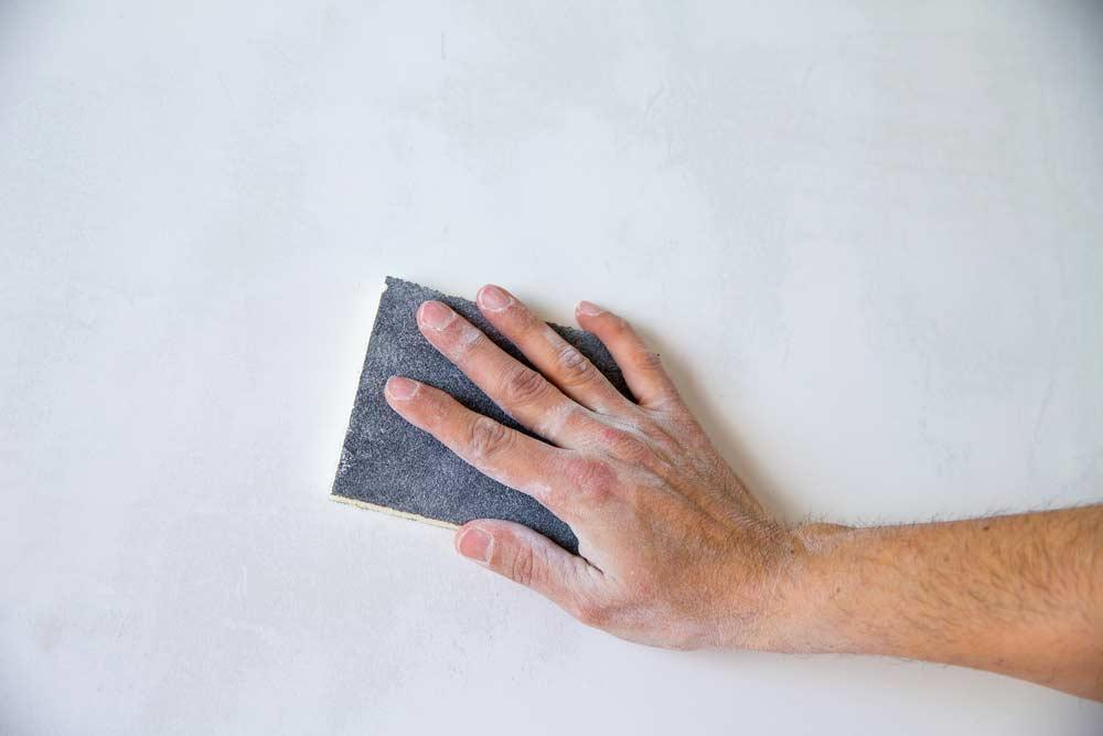 Sandpaper on the wall