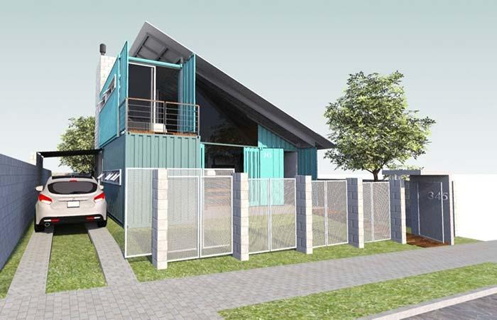 Covered container house