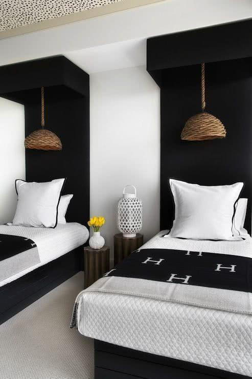 Black and white decoration: 60 ideas of environments to be inspired 45