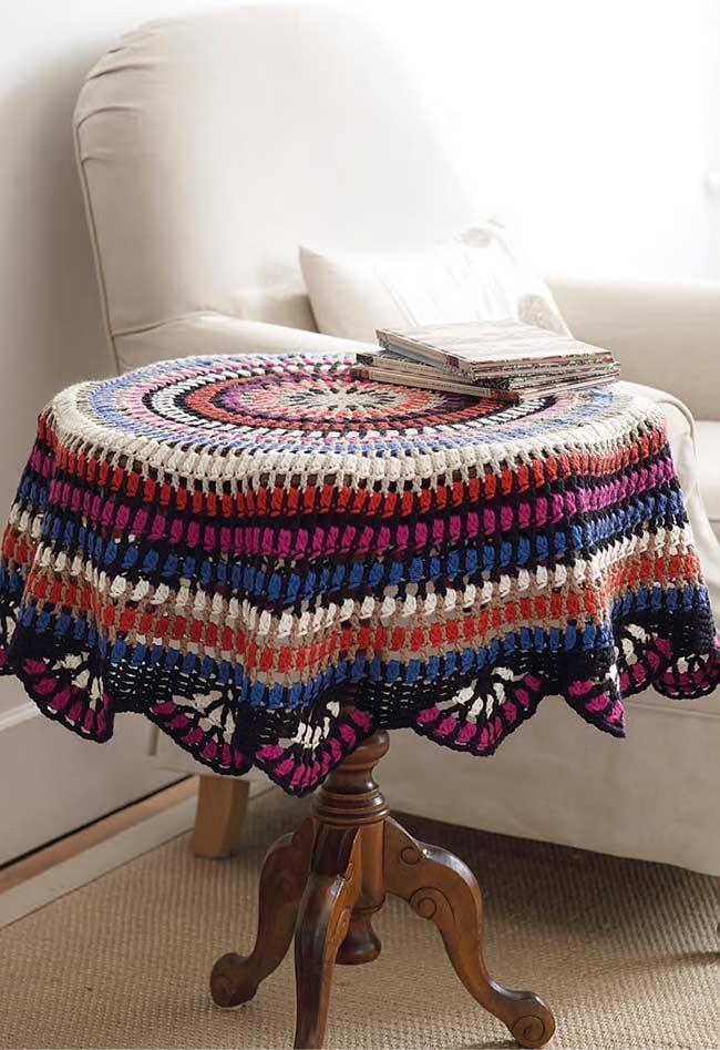 Crochet towel: ideas to add table decoration 9