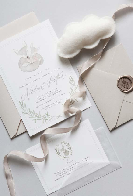 Get inspired by nature's moms when it comes to basing your decor and baby shower invitations.
