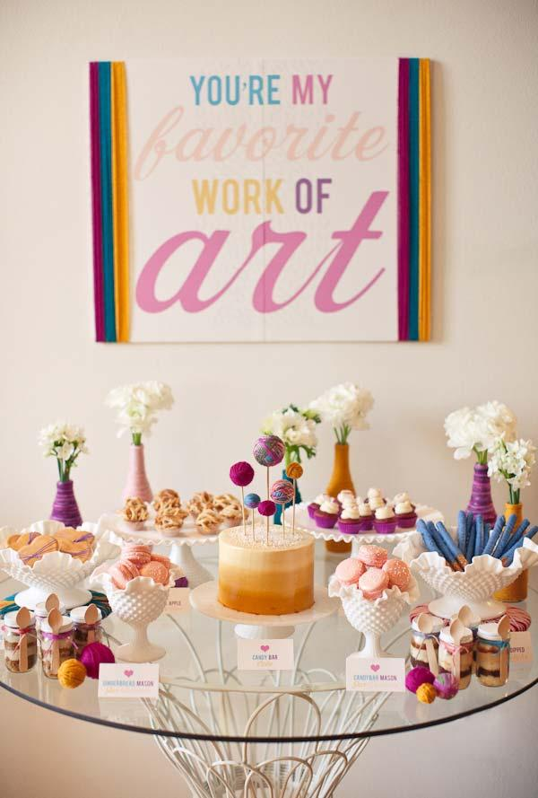 Baby Cha: Tips on how to organize and 60 decorating photos 3