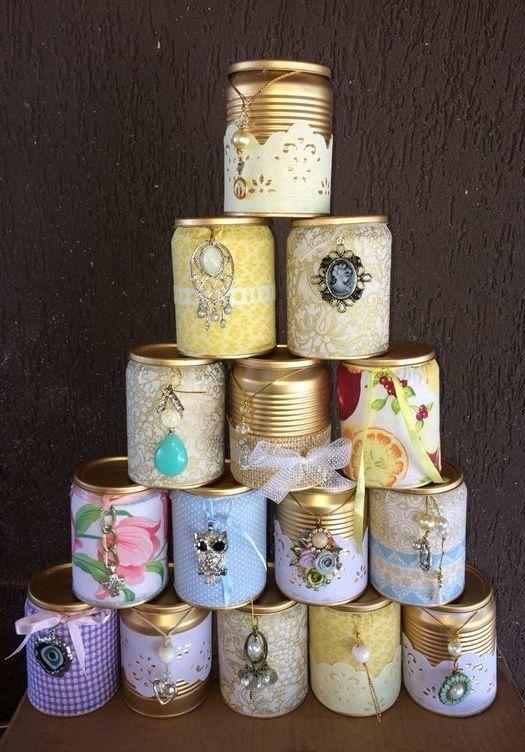 Decorated cans: 70 cool ideas to make at home 25