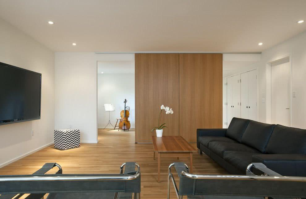 Sliding door: advantages of using and projects with photos 6