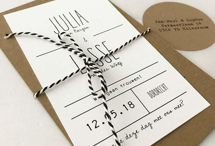 Font style for simple wedding invitation