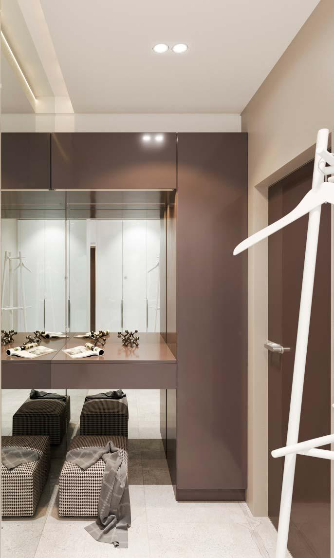 Lighting in plaster moldings are also great for closets